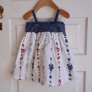 Gap summer denim and floral print dress